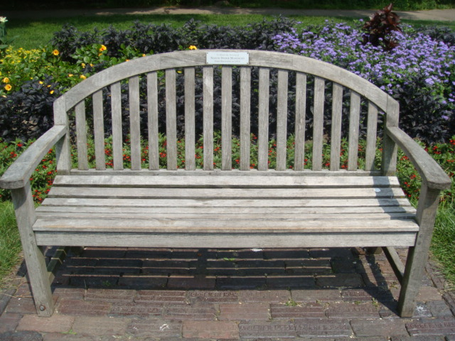 Conservatory bench - dedicate a bench, tree, plant, or flower